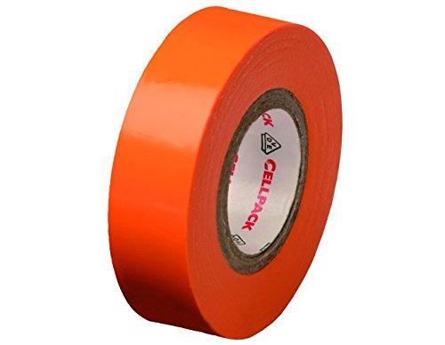 Cellpack 1458221280,15-15-10, Nastro D Elektrische Isolierung PVC, orange