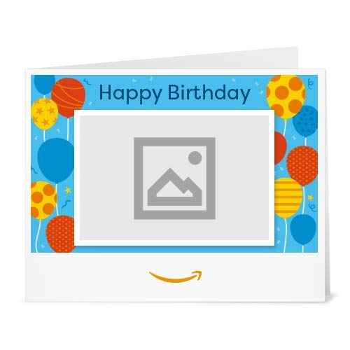 Amazon.de Gutschein zum Drucken mit eigenem Upload (Geburtstagsballons)
