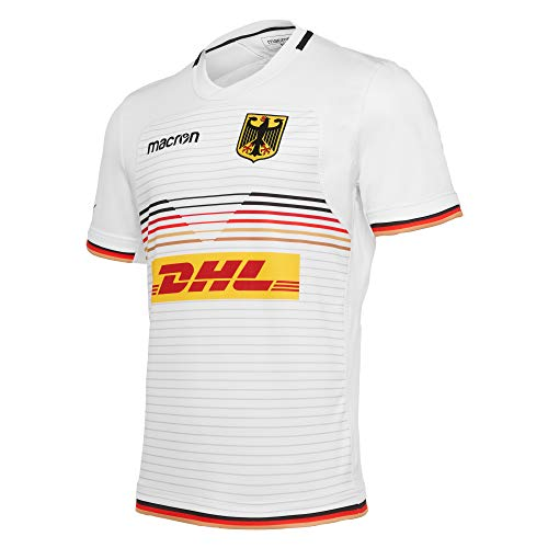 Macron Fanartikel Deutschland · DRV Rugby National Trikot Away · Bekleidung Oberteil Hemd Jersey Shirt Auswärtstrikot · Unisex Damen Herren Frauen Männer · World-Euro Series 2020 Erwachsene Größe M