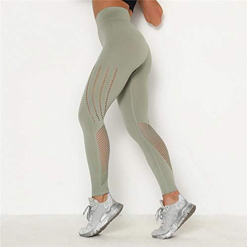 Nouveau Femmes Pantalons Fitness Leggings Push Up Legging Taille Haute Femmes Sexy Respirant Feamle Workout Leggins Mujer S Lightgreen