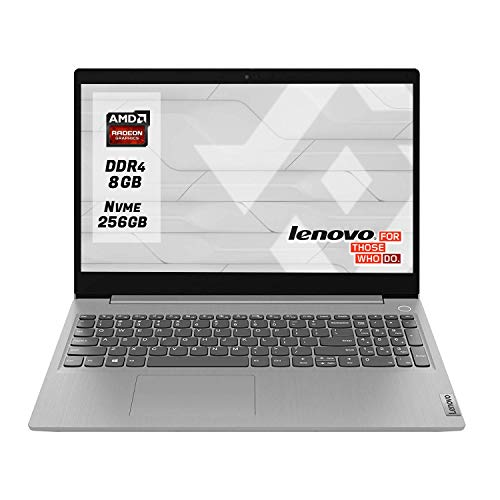 "Notebook Lenovo Ideapad Silver Pc portatile cpu Amd A4 3020 Display 15.6"" Ram 8Gb Ddr4 SSd M.2 256 Gb NVMe,Hdmi,Wi fi,Bluetooth,Windows 10 Professional"