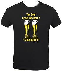 "Boutique KKO - Camiseta de manga corta, diseño humorístico contexto en inglés ""Two Beer or not Two Beer"""