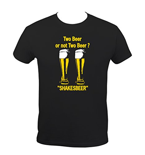 Boutique KKO T-Shirt Humoristique Two Beer Or Not Two Beer - Noir - X-Large