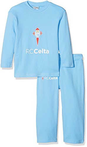 R.C. Celta de Vigo Pijcel Pijama Larga, Infantil, Multicolor (Azul celeste/Blanco), 10