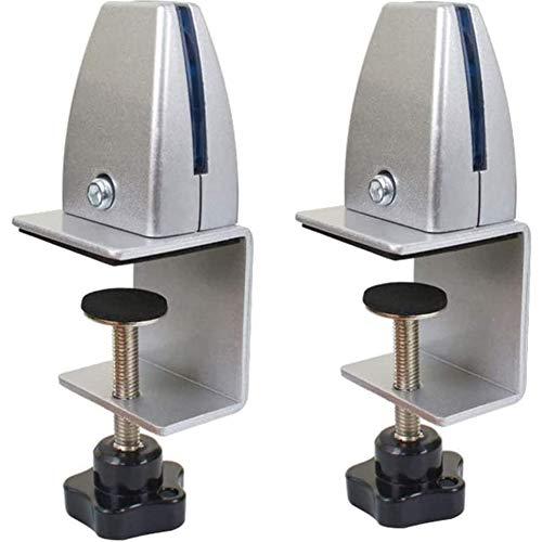 cscd Klemmhalter für Plexiglas,Tischklemme für Spuckschutz Schutzwand,Büro-Trennwand-Klemme,Tisch-Trennwand-Klemme für Heimbüro Einstellbare, Silver