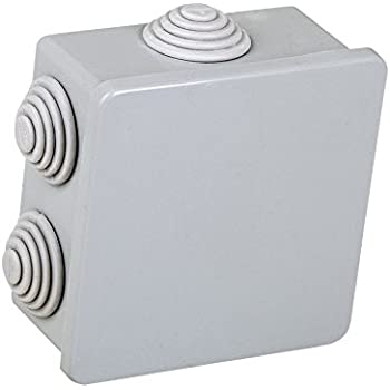 Electraline 60552 - Caja de derivación (de superficie, 80 x 80 mm): Amazon.es: Bricolaje y herramientas