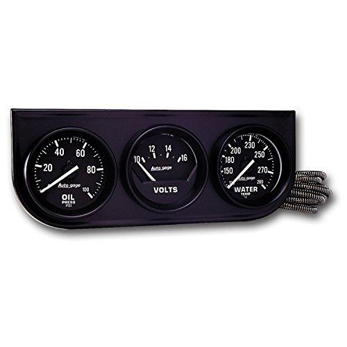 AUTO METER 2397 Autogage Black Console Oil/Volt/Water Gauge Autometer Autogage Mechanical Oil