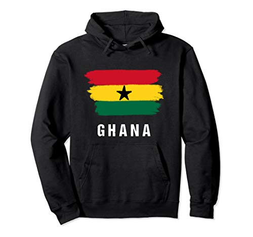 Gemalte Ghana Fahne / Ghanaische Flagge Fan Geschenk Pullover Hoodie