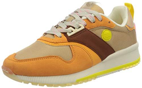 SCOTCH & SODA FOOTWEAR Damen VIVI Sneaker, orange Multi, 38 EU
