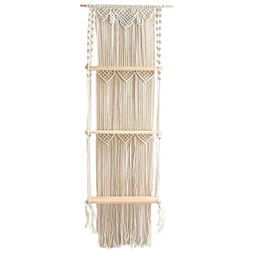 lyqdxd Nordic Bohemian Long Tassel Tapestry Storage Rack Hand-woven Mural Wall Hanging Decorative Crafts for Living Room Decor Wall Decor Tapestry