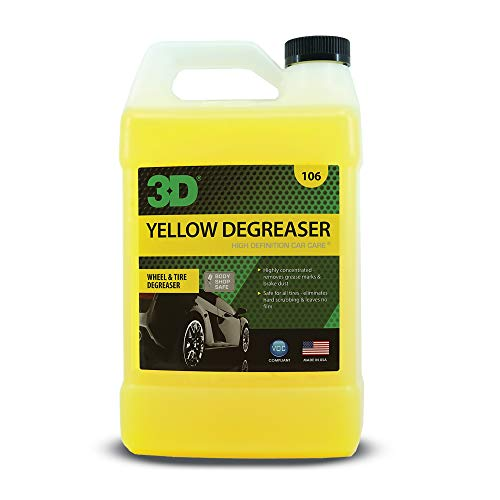 3D Yellow Degreaser - Wheel & Tire Cleaner - All In One Wheel & Tire Car Wash Detailing Spray - 1...