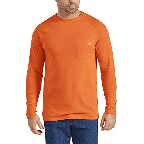 Dickies Men's Temp-iQ Performance Cooling Long Sleeve T-Shirt, Bright Orange, M