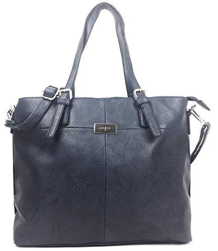 Savvy Street Handtaschen für Frauen, klassischer italienischer Stil, große Designer-Tasche mit mehreren Taschen, Schultertasche, Schwarz - Schwarze Maserung - Größe: Large