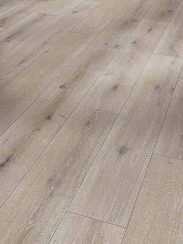 Parador Modular One - Bodenbelag Eiche Urban Grau Gekälkt - Elastischer Bodenbelag in Holz-Optik, schallgedämmt, mit Klick-Verlegung - ohne Weichmacher - 1285 x 194 x 8 mm