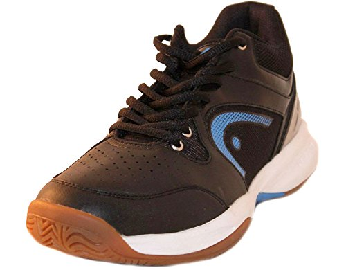 HEAD Men's Sonic 2000 MID Racquetball/Squash Indoor Court Shoes (Non-Marking) (Black/Blue) 9.5 (D) US
