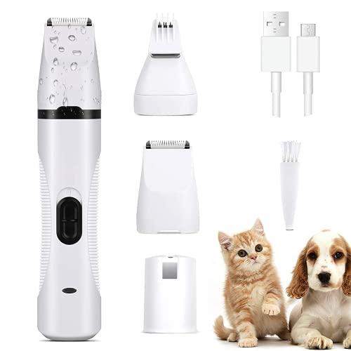 EZGETOP Tondeuse électrique 3 en 1 pour Animal Domestique, Machine à Couper Les Poils pour Chiens, Coupe-Ongles, Tondeuse à Poils de Chat, Tondeuse à Poils de Chien