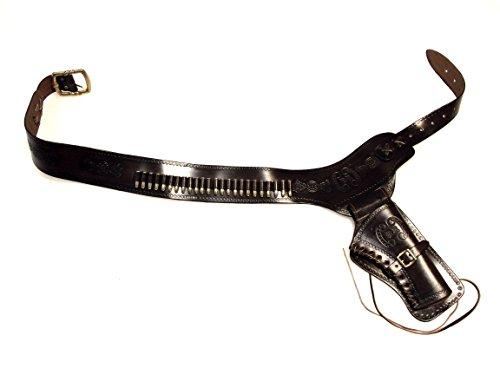 Revolvergürtel Coltgürtel Pistolengürtel mit 24 Dekopatronen aus Messing
