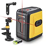 MOTORHEAD 75-Ft Self-Leveling Red Cross-Line Laser Level, Horizontal & Vertical Beams, 1/4in Tripod Mount, Magnetic, Suction & Clamping Mount Included, Batteries Included, USA-Based Support