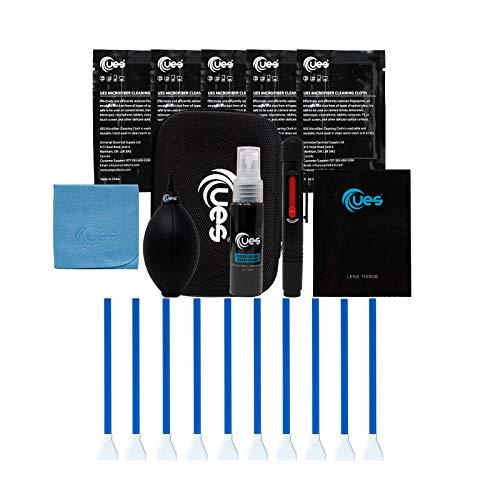 UES DKL16 DSLR-Kamera-Reinigungsset: APS-C Sensorreinigung Pinsel, Linsen- und Sensor Reiniger, Luftgebläse, Mikrofaser Reinigungstuch, Reinigungsstift zur Objektiv, Linsengewebe