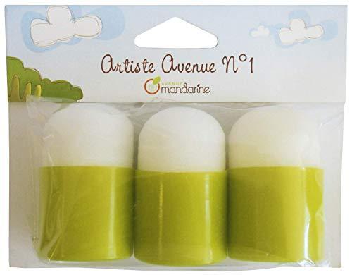 Avenue Mandarine 42461MD Set mit 3 Stempeln aus Schaumstoff, ideal für Ihre Kunstprojekte und Bastelarbeit, kann mit Schablonen verwendet werden) 3er Pack