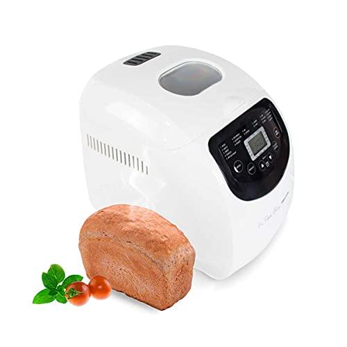 PRIXTON La Petite Bakery - Macchina per il pane e pizza 19 Tipi di Pane 3 Livelli di Tostatura Capacità 1000 g Schermo con pulsanti e Timer