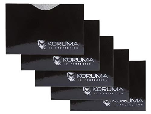Neu KORUMA Chip RFID/NFC-Schutzhülle - 100% Schutz - in unabhängigen Tests bestätigt - Packung mit 5 Stück (KDE-87HBLS 5)