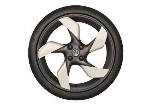 Original Opel Adam 45,7cm Twister Legierung 'weiß My Fire' Spoke clips- Set von vier