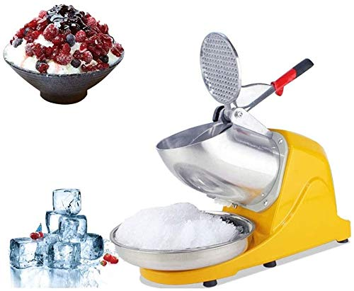 Ice blender Ice Crusher Smoothies Electric Maker 65 Kg/h Rust-Proof Safety Switch One- Button Power Switch Materials for Family Restaurants Bars Cafeterias best gift