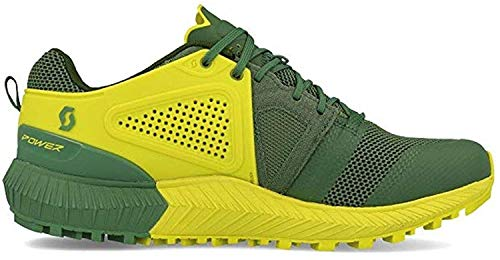 Scott - Zapatillas de Running de Tela, sintético para Hombre Amarillo Yellow Black, Color Verde, Talla 43 EU