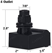 GASPRO 4 Outlet Gas Grill Ignitor,Electronic Spark Generator,Push Button BBQ Igniter Replacement for Brinkmann,Centro,Charbroil,Kenmore,Uniflame,Nexgrill,Ducane,Master Forge,Charmglow and Others
