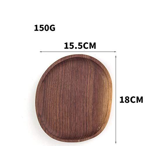 WFSDKN bord, hout, notenboom, zwart, dennenboomplaat, fruit, onderzetter, theetablet, dessert, brood, pizza, rechthoekig, houten blad, theetafeltje