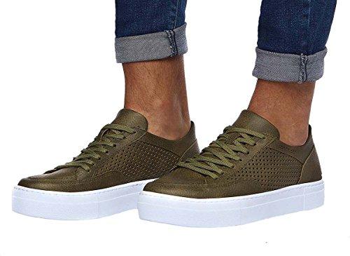 Leif Nelson Herren Schuhe Freizeitschuhe elegant Winter Sommer Freizeit Schuhe Männer Sneakers Sportschuhe Laufschuhe Halbschuhe LN154; Größe 44, Khaki