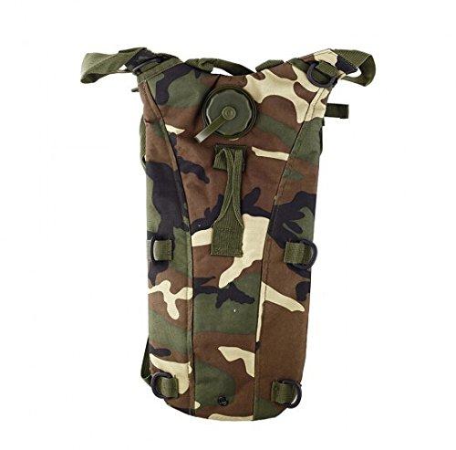 aogolouk Camouflage Acqua Borsa Zaino Carrier + 2.5L Idratazione Vescica Serbatoio per ciclismo, trekking,, Army camo