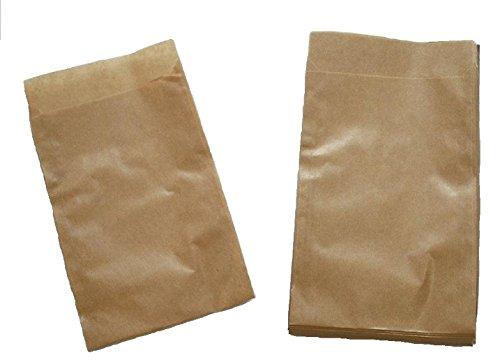 Papiertüten braun flach 8,5x11,5cm (500St.) von BLÜHKING®