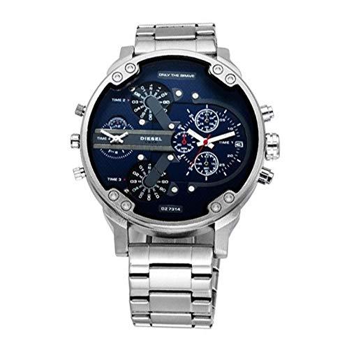 Cloverclover Herren-Armbanduhr, Edelstahl, analog, Quarz, Armbanduhr