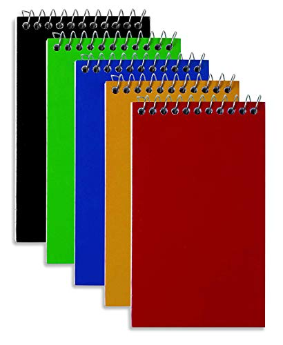 Wirebound Spiral Memo Books, Top-Opening, College Ruled, 3