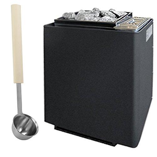 Saunaofen EOS Bi-O-Mat W 7,5 kW anthrazit-Perleffekt inklusive Verdampfer und 15 kg Saunasteinen. Bio-Kombi-Ofen ohne Steuerung