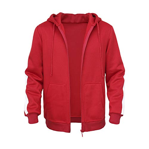 HEROMEN Coco Miguel Hoodie,Plus Samt Gepolsterter Pullover Für Erwachsene/Kinder Cosplay Kostüm,Red(Thick)-110cm