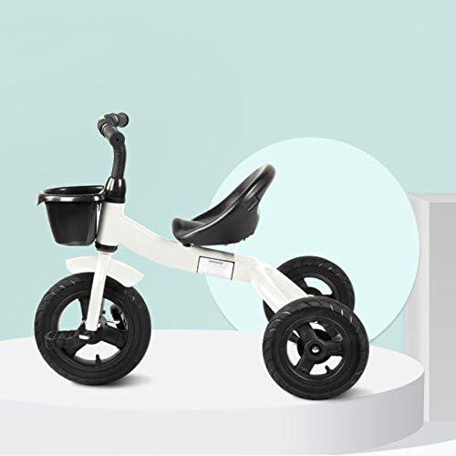 QXMEI Kinder Dreirad Fahrrad 1 Bis 6 Jahre Alt,Weiß