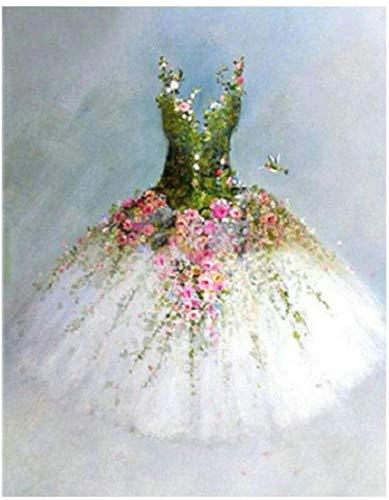 Jkykpp DIY olieverfschilderij digitale tekening kinderen schilderset huis ural decoratie canvas volwassenen mooi landschap geschenk natuur bruidsjurk