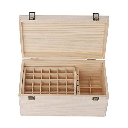 Boîte de stockage d'huile essentielle, présentoir d'huile essentielle double boîte de stockage d'huile essentielle boîte de stockage d'huile essentielle de grande capacité boîte de rangement solide en