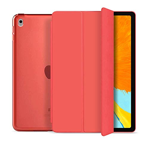 BLITY Case for iPad Air 2, PU Leather Trifold Stand Slim Fit Smart Cover [Auto Sleep/Wake] with Hard Back Case for Apple iPad Air 2 (2nd Gen 2014 Model)(A1566 A1567)(Red)