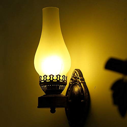 Kerosene lamp shade retro Vintage Black One Light Metal Wall Lamp rustic living room wall lights bedroom wall antique glass shade Simply Creative Wall Lamp Stairs Bedroom Aisle Interior Design