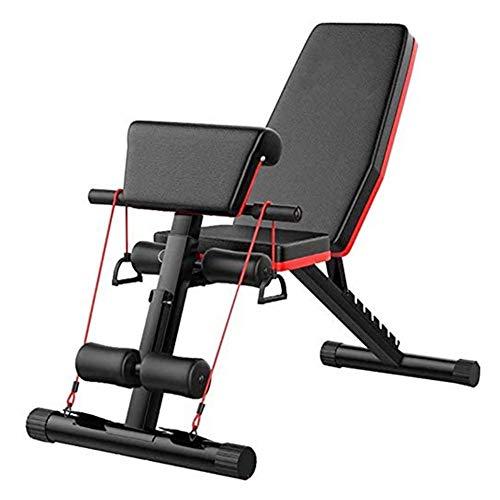 Z&HA Workout-Bank mit einstellbarem Gewicht, Workout-Bank mit Bauchmuskeltraining, Gebogene Sitzbank mit gebogener Sitzfläche, Fitness mit flachem Fliegengewicht für Fitness zu Hause