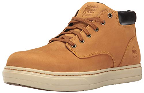 Timberland PRO Men's Disruptor Chukka Alloy Safety Toe EH Industrial and Construction Shoe, Wheat Nubuck, 8.5 M US