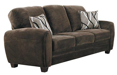 Homelegance Rubin 85'Plush Fabric Sofa, Chocolate