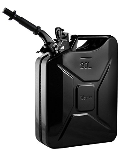 Wavian Authentic OTAN Jerry - Lata de Combustible, Negro, 20 Liters