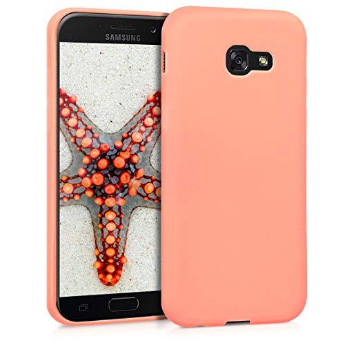 kwmobile Funda Compatible con Samsung Galaxy A5 (2017) - Carcasa de TPU Silicona - Protector Trasero en Coral Mate