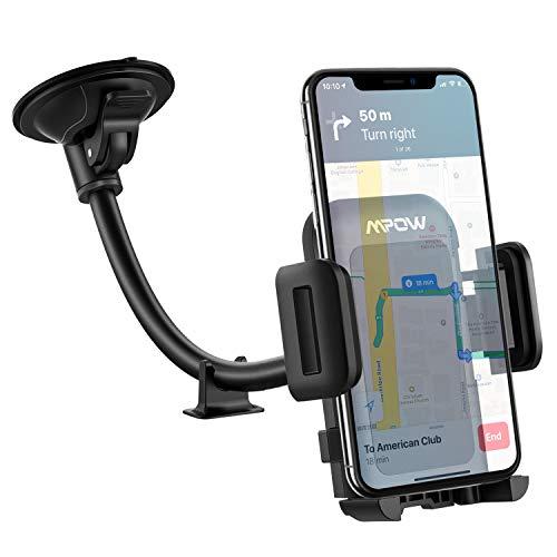 Mpow Handyhalterung Auto Windschutzscheiben Handy Halterung Auto KFZ Smartphone Halterung Verbesserte saugnapf Halterung Auto handyhalter fürs Auto für iPhone11/XS/8,Galaxy10/9/8,HTC,Google,GPS,usw