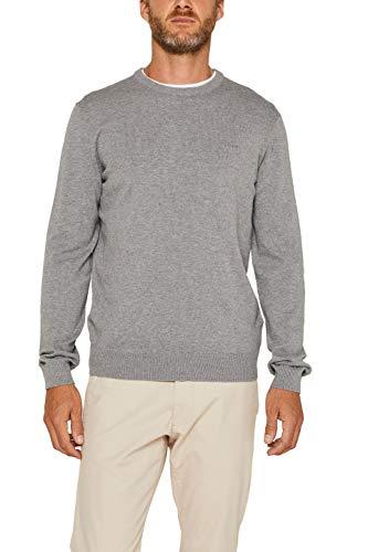 ESPRIT Herren 999Ee2I803 Pullover, Grau (Grey 030), Large (Herstellergröße: L)